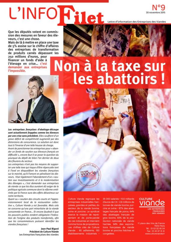 Non à la taxe sur les abattoirs !