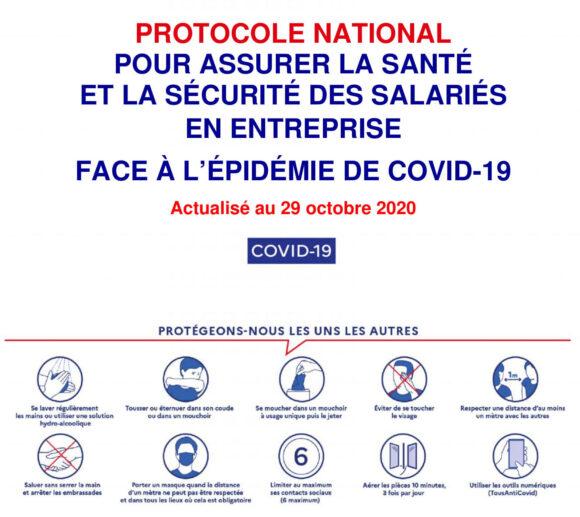 Covid-19 : nouveau protocole d'entreprise & justificatif de déplacement professionnel