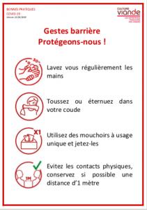 Covid-19 : Culture Viande diffuse des fiches de bonnes pratiques d'hygiène/sécurité