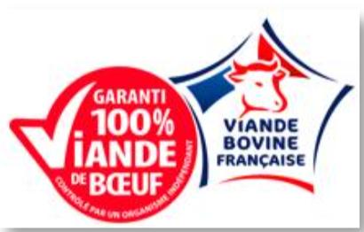 « Garanti 100% Viande de bœuf » remplace « 100% muscle »